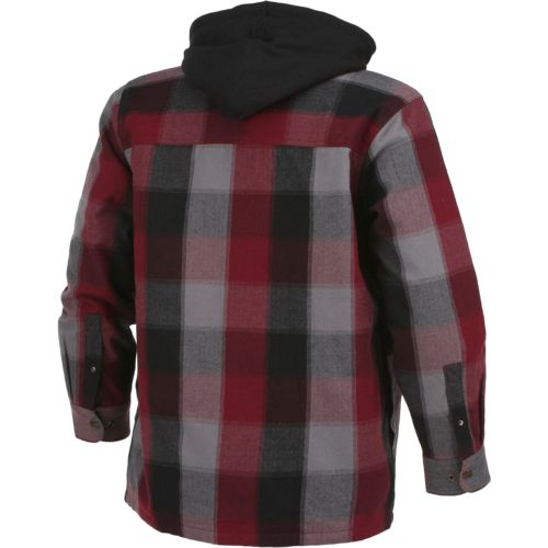 Brazos Men's Blacksmith Hooded Flannel Shirt Jacket | Academy