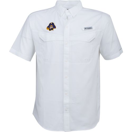 Columbia Sportswear Men's East Carolina University Low Drag Offshore Short Sleeve Shirt - view number 1
