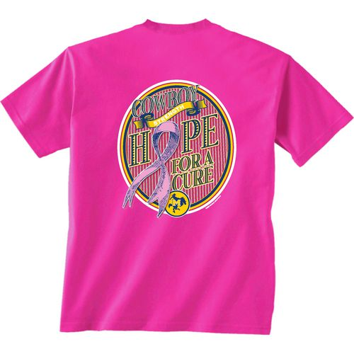 New World Graphics Women's McNeese State University Breast Cancer Hope T-shirt