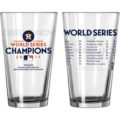 Boelter Brands Astros 2017 World Series Champs Roster 16 oz Pint Glass