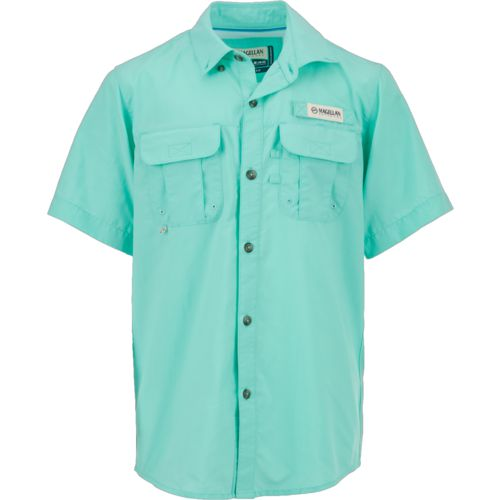 Display product reviews for Magellan Outdoors Boys' Laguna Madre Short Sleeve Fishing Shirt
