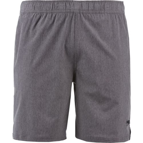 Speedo Men's Heather Tech Volley Swim Short with Hydroliner