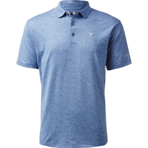 Callaway Men's Opti-Stretch Golf Performance Short Sleeve Heather Polo Shirt