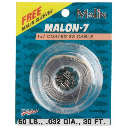 Malin Malon-7 Coated SS 6#, 30' Wire