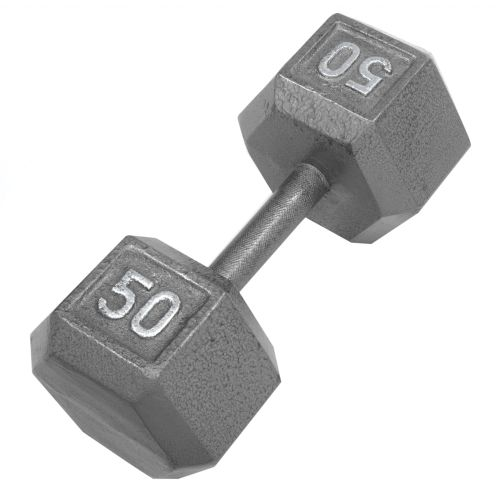 CAP Barbell 50 lb. Solid Hex Dumbbells