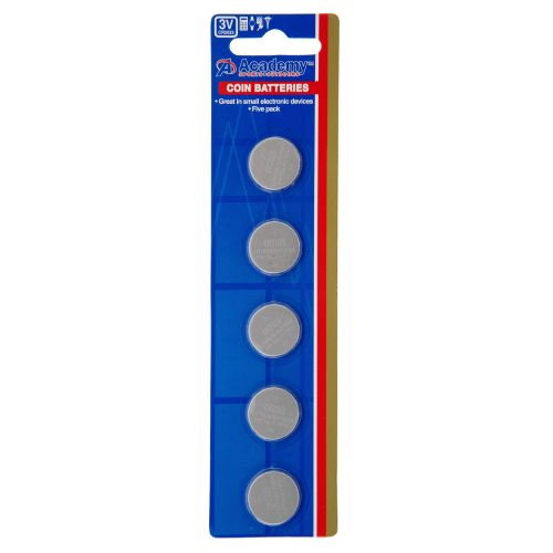 Academy 3V Coin Batteries 5-Pack - view number 1