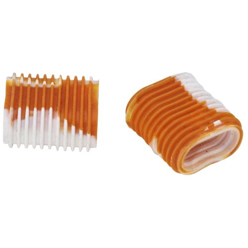 Reel Grip Metallic Orange/White Pair