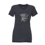 adidas Women's Oklahoma City Thunder Logo V-neck T-shirt