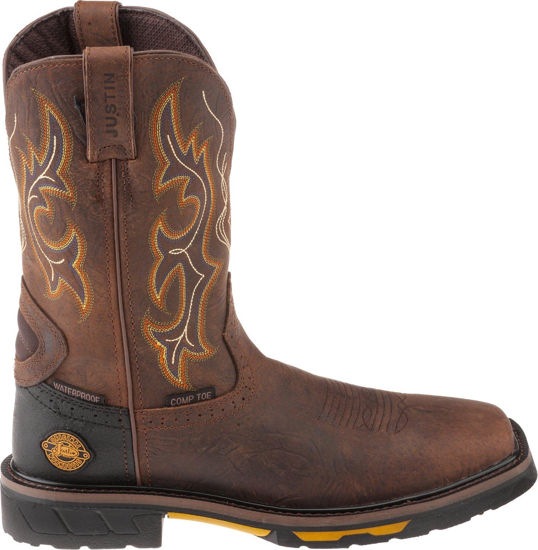 Mens Black Justin Work Boots Work Boots · Justin Men's