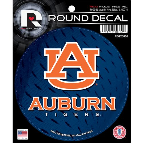 Tag Express Auburn University Round Decal - view number 1
