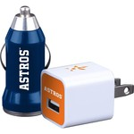 Mizco Houston Astros Home and Away USB Chargers 2-Pack