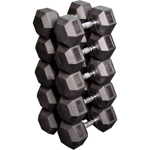 Body-Solid 55 - 75 lb. Rubber Coated Hex