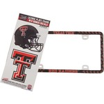 Stockdale Texas Tech University Thin Rim License Plate Frame and Decals