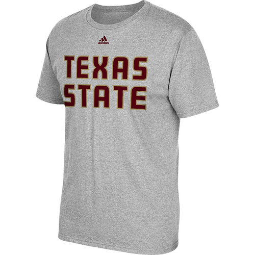 adidas Men's Texas State University Team Font T-shirt