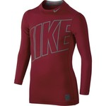 Nike Boys' Hyperwarm High Brand Read Mock Neck Compression Training Top