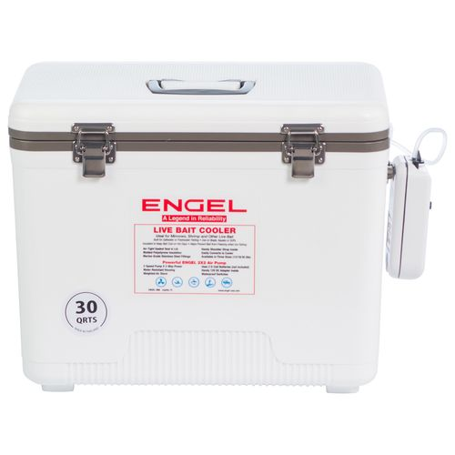 Engel 30 qt. Live Bait Cooler/Dry Box with 2-Speed Aerator Pump