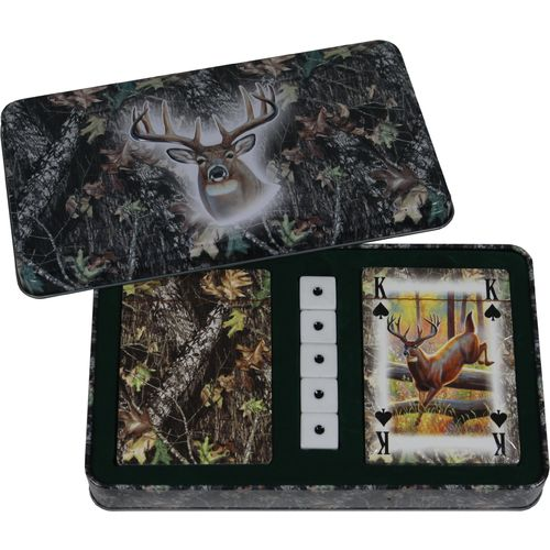 River's Edge Products Mossy Oak Deer Cards and Dice