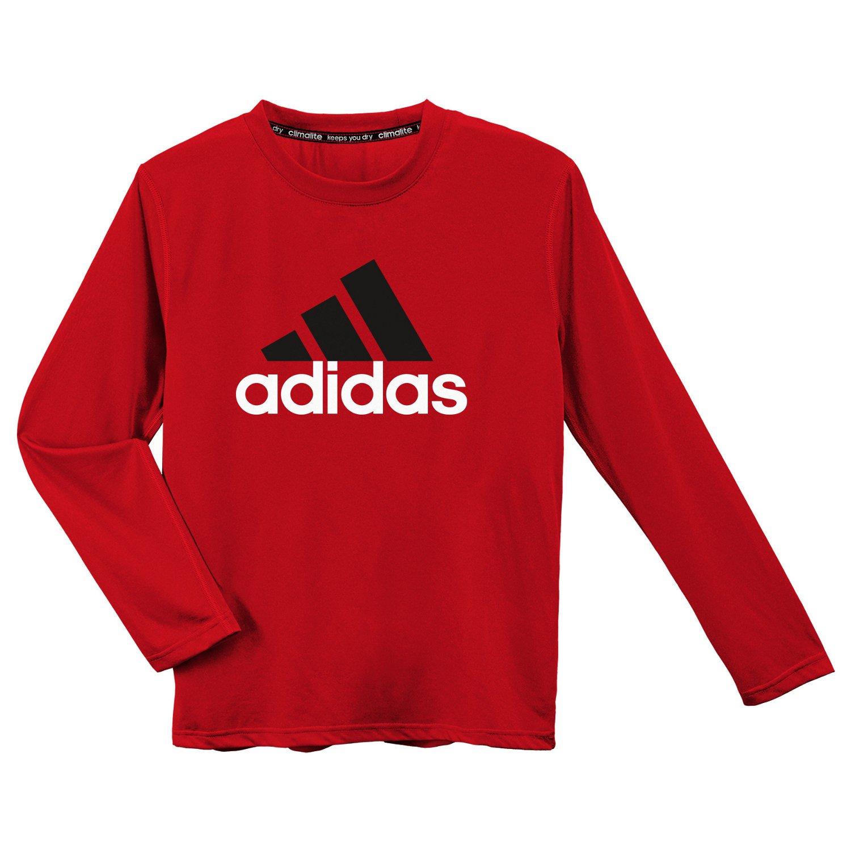 Shirts amp; TShirts gt; adidas Boys39; climalite® Big Logo Long Slee