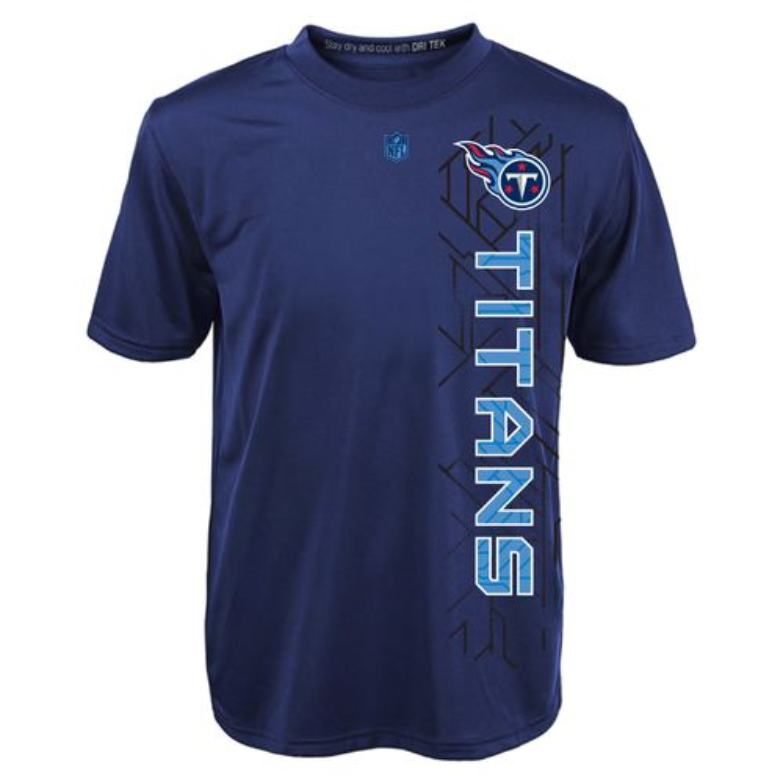 NFL Boys' Tennessee Titans Vertical Grid Dri-Tek T-shirt