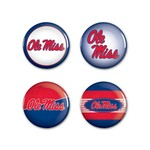 WinCraft University of Mississippi Round Buttons 4-Pack