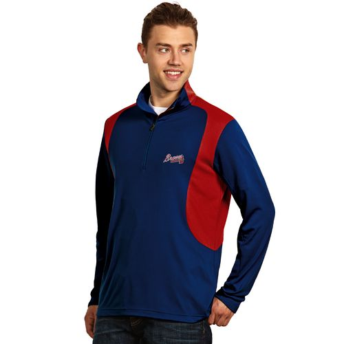 Antigua Men's Atlanta Braves Delta Pullover