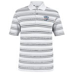 adidas™ Men's Oklahoma City Thunder Puremotion Textured Stripe Golf Polo Shirt