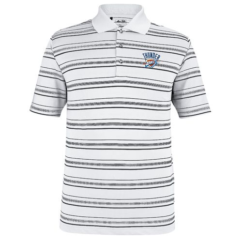 adidas Men's Oklahoma City Thunder Puremotion Textured Stripe Golf Polo Shirt