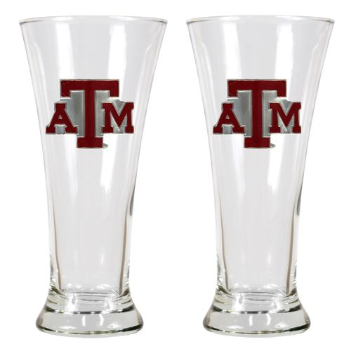 Great American Products Texas A&M University 19 oz. Pilsner Glasses 2-Pack