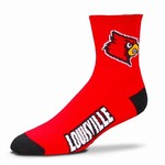 For Bare Feet Men's University of Louisville Logo Quarter Socks