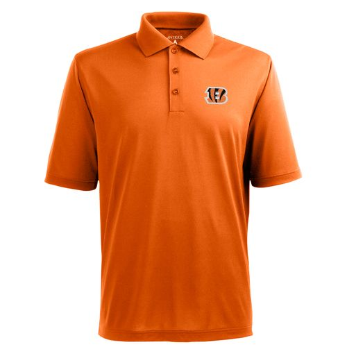 Antigua Men's Cincinnati Bengals Piqué Xtra-Lite Polo Shirt - view number 1