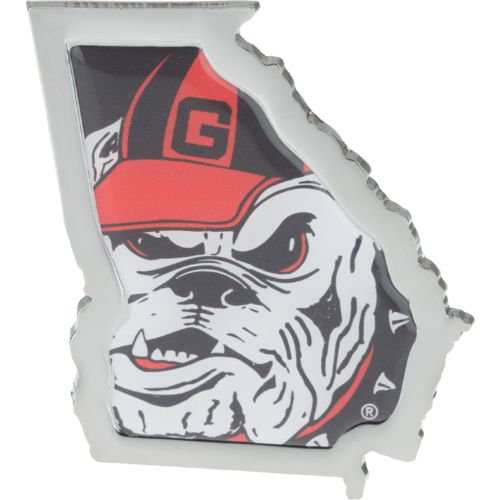 Stockdale University of Georgia Chrome State Shape Auto Emblem