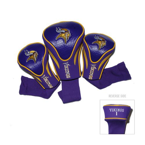 Team Golf Minnesota Vikings Contour Sock Head Covers 3-Pack