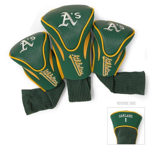 Team Golf Oakland Athletics Contour Sock Head Covers 3-Pack