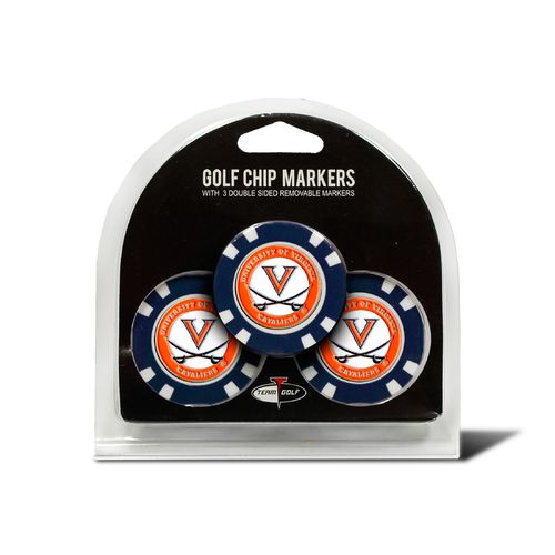 Team Golf University of Virginia Poker Chip and Golf Ball Marker Set