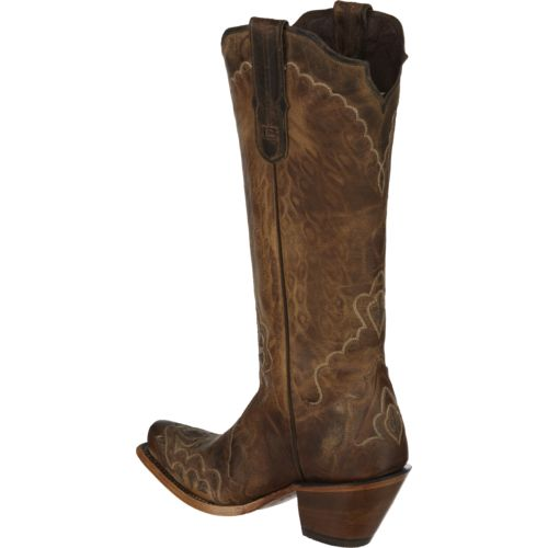 Tony Lama Women's Saigets Worn Goat Label Western Boots - view number 3