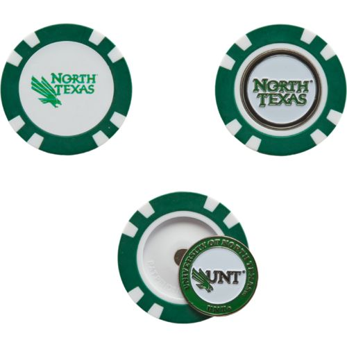 Team Golf University of North Texas Poker Chip and Golf Ball Marker Set