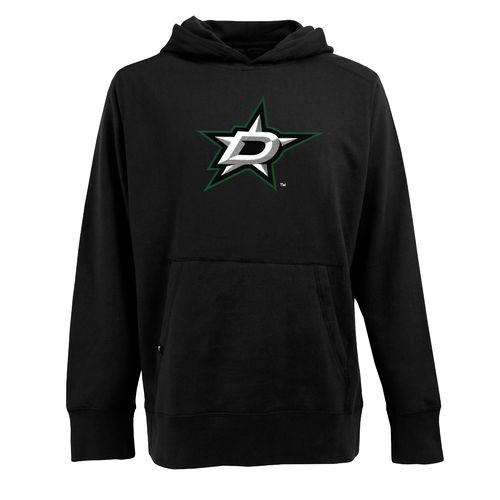 Antigua Men's Dallas Stars Signature Appliqué Pullover Hoodie