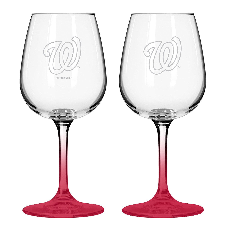 Boelter Brands Washington Nationals 12 oz. Wine Glasses