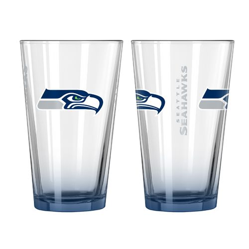Boelter Brands Seattle Seahawks Elite 16 oz. Pint Glasses 2-Pack