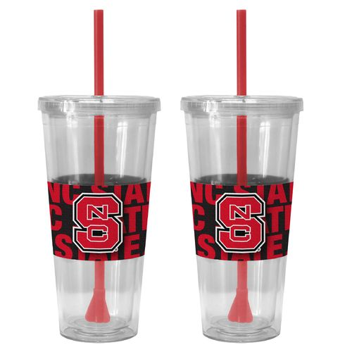 Boelter Brands North Carolina State University Bold Neo Sleeve 22 oz. Straw Tumblers 2-Pack