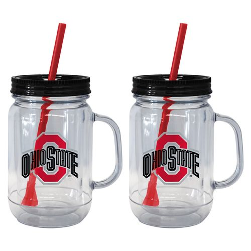 Boelter Brands Ohio State University 20 oz. Handled Straw Tumblers 2-Pack