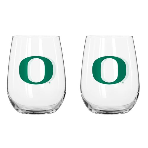 Boelter Brands University of Oregon 16 oz. Curved Beverage Glasses 2-Pack