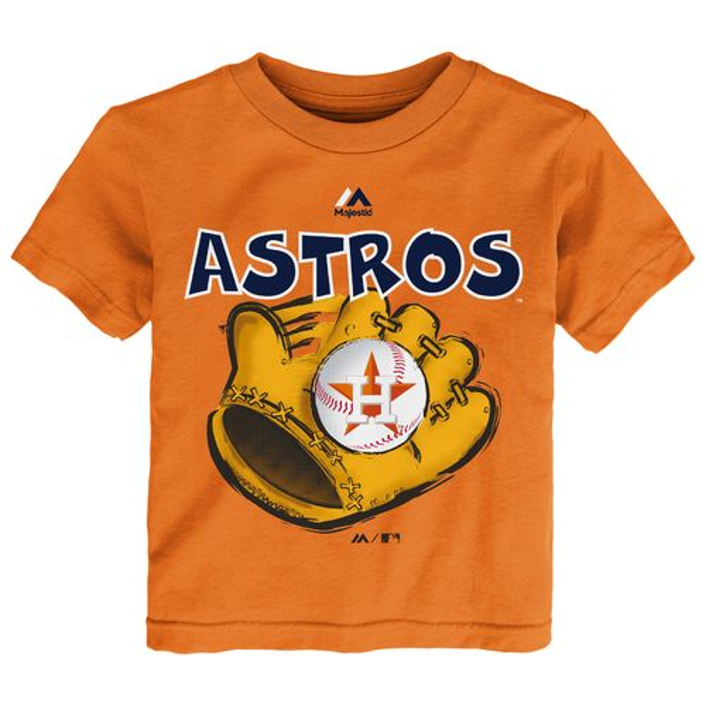 Majestic Toddler Boys' Houston Astros Baseball Mitt Short