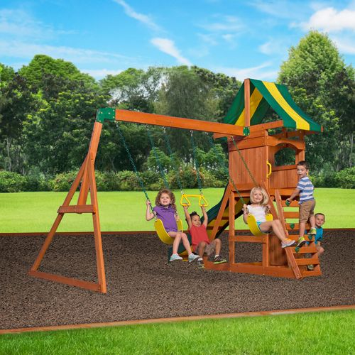 Backyard Discovery™ Weston Wooden Swing Set - view number 3