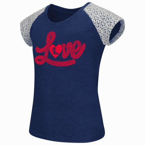 Colosseum Athletics Girls' University of Mississippi All About That Lace T-shirt