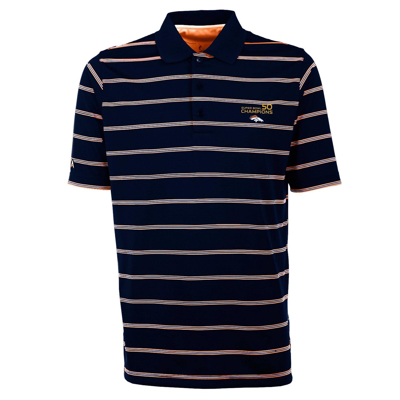 Antigua Men's Denver Broncos Deluxe Polo Shirt