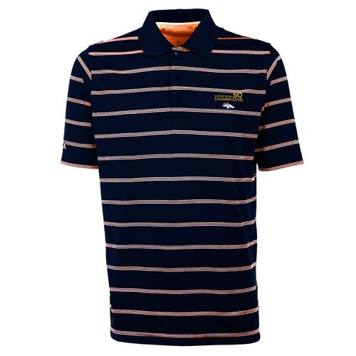 Antigua Men's Denver Broncos Deluxe Polo Shirt