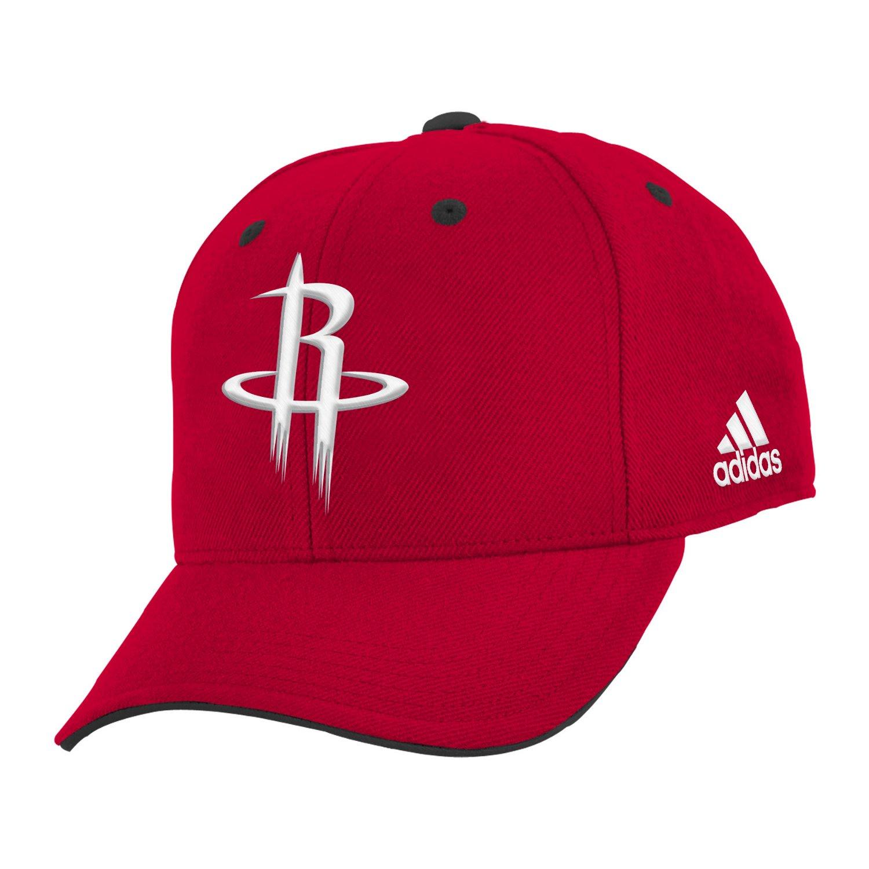 adidas™ Boys' Houston Rockets Basic Structured Adjustable Cap