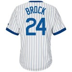 Majestic Men's Chicago Cubs Lou Brock #24 Cooperstown Cool Base 1968-69 Replica Jersey - view number 1