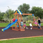 Backyard Discovery™ Yukon III Wooden Swing Set - view number 1